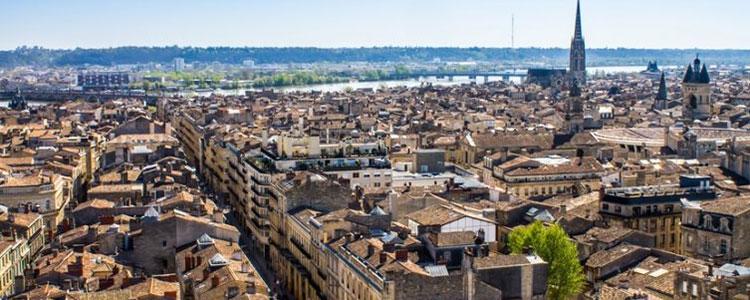 Firmenansiedlung in Bordeaux, Frankreich
