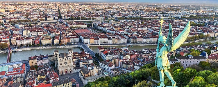 Firmenansiedlung in Lyon, Frankreich