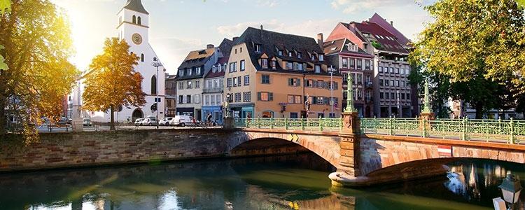 Firmenansiedlung in Straßburg, Frankreich